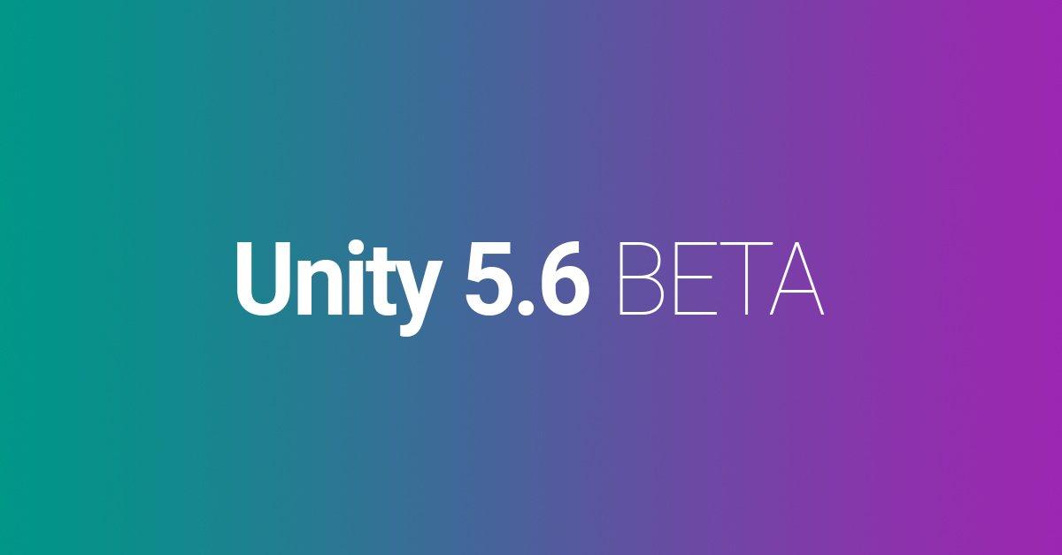 New unity beta