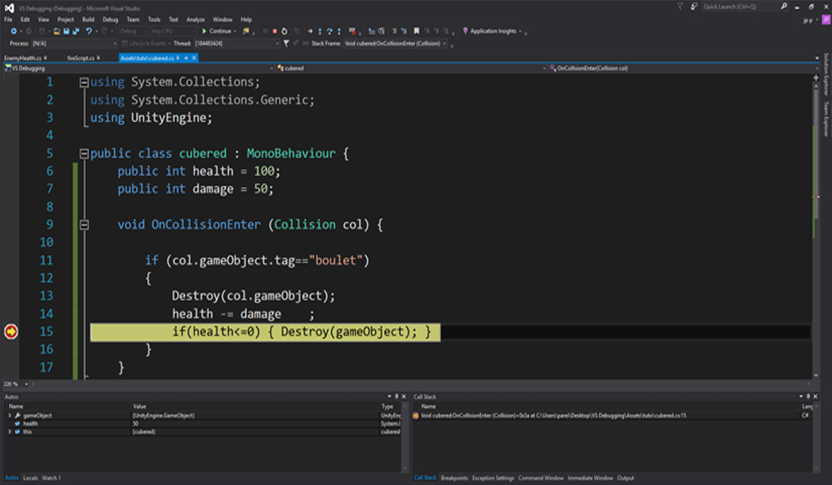 visual studio unity